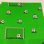 Stoff-Fussball-Tor-grün