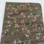 Baumwoll, grau, Blumenranken