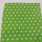 Baumwoll, grün, Sterne