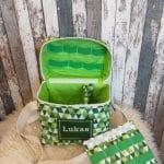 T-Bag, grüne Dreiecke, Lukas innen