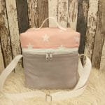 T-Bag, grau, rosa Sterne